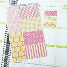 W15 // Pink Lemonade 'Washi' (38 Matte Planner Stickers)