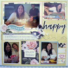 A very happy birthday #layout indeed!  #scrapbooking