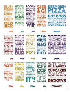 Delicious City Prints: Postcards by Roni Lagin