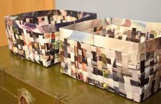 recycled magazine baskets