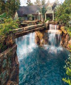 Lagoon to home more dream house dream pools, house, lagoon p Beautiful Homes, Beautiful Places, Beautiful Life, Beautiful Pictures, Lagoon Pool, Grotto Pool, Luxury Pools, Luxury Swimming Pools, Dream Pools