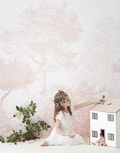 Hand Painted Tree Wall Mural Sian Zeng - Award Winning & Renowned For Imaginative, Magnetic Wallpapers, wall murals and interior accessories. Shop Now!