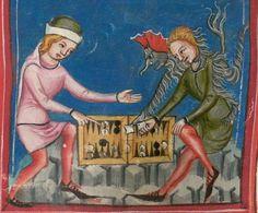 Rudolf / Jansen Enikel, Jans: Weltchronik in Versen - Mischhandschrift aus Christ-herre-Chronik um 1370 Cgm 5  Folio 195v