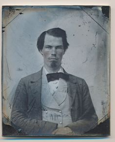 1850's Early Ambrotype 1 6 Plate Southern Gentleman Antique Photograph 054…