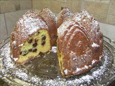 Chocolate Chip Sour Cream Pound Cake
