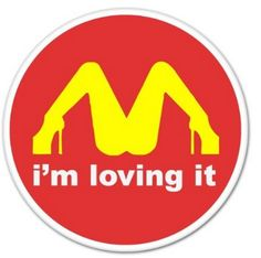 I M Loving It McDonald sticker - Offensive Helmet Sticker Collection