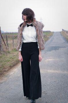 Merci à Aurelia du blog Fashion is a playground (Gilet vintage NAF NAF)