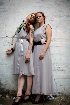 Turan and Venus in grey.  Available in sizes 8-10. Sample sale $60
