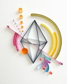 Abstract Geometric Quilling by Akiko Makihara. See more of her compelling designs.