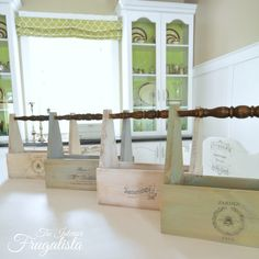 Antique Chair Spindle Wooden Tool Caddies|The Interior Frugalista...tutorial