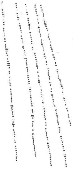 Poésies Calligrammes (Apollinaire, Birot, Leiris)