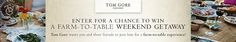 I just entered the Tom Gore Vineyards Farm-to-Glass Sweepstakes for a chance to win a trip for 4 to California! Make sure you enter too!