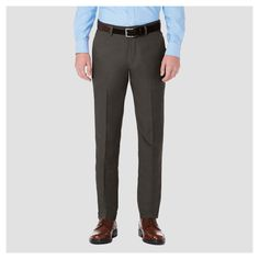 Haggar H26¤ Men's Performance 4 Way Stretch Slim Fit Trouser Pants - Heather Gray 28x32