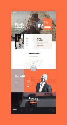 Landingpage Ui design concept for Financial sector by lluck Web hosting at arweb Website Design Inspiration, Best Website Design, Website Design Layout, Web Layout, Layout Design, Layout Inspiration, Web Design Websites, Web Design Examples, Web Ui Design