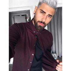 Kalt, warm, kalt, warm, kalt, warm... Zwiebel-Look ist angesagt! 🙌🏻 Jacke drüber und raus boys & girls! 😘 #hotandcold #afterwork #red #black #white #love #silver #haircut #fashion #peace #eyes #selfie #instadaily #potd #instagay #instaselfie #hipster #friends #ootd #bearded #gay #f4f #granny #snapchat #igers #tattoo #gayboy #hairstyle #whitehair #beard