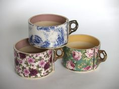 'inside out' mugs made by Virginia Graham.