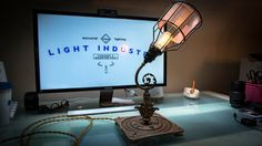 Industrial Steampunk Upcycled Machine Lamp I by LightindustryCA Upcycle, Steampunk, Industrial, Lighting, Unique Jewelry, Etsy, Vintage, Design, Art