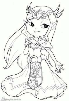 Awesome Stained Glass Zelda Coloring Page Gonna Try This In
