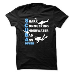 """Awesome Scuba Diving  ShirtAre you bold (and honest) enough to wear it? """"Awesome Scuba Diving Shirt""""scuba diving,underwater diving,breathing gas,water,shark,diver"""
