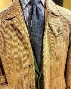handsome tweed jacket details......