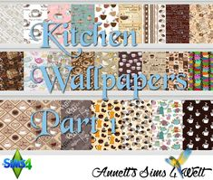 Annett's Sims 4 Welt: Kitchen Wallpapers Part 1 + Part 2