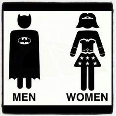 I've been looking for a bathroom sign.Batman and WonderWoman Toilet by L - Batman Canvas Art - Trending Batman Canvas Art - I've been looking for a bathroom sign.Batman and WonderWoman Toilet by LucaGiorgi on deviantART Batman Bathroom, Superhero Bathroom, Batman Poster, Batman Shirt, Batman Logo, Anniversaire Wonder Woman, Silhouette Cameo, Diy Deco Rangement, Wc Sign