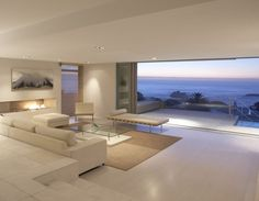 Cape Town, Penthouse Minimalist interior featuring the Barcelona Mies Van der Rohe _