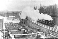 a Canadian Pacific passenger train steams towards Union Station after crossing over Ottawa River via the Alexandra Bridge. Shared by Raymond Bjornson. Ottawa River, Model Railway Track Plans, House Of Commons, Union Station, Photo Archive, Model Trains, Historical Photos, Ontario, Past