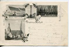 Roitzsch Kr Bitterfeld 3 Bild Jugendstil AK Kriegerdenkmal Kirche Gasthof 1902