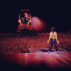An absolutely unbelievable shot of MJ and the massive crowd watching him. # rebuildingmylife