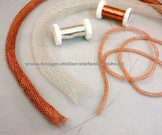 always busy! I love wire crochet jewelry!