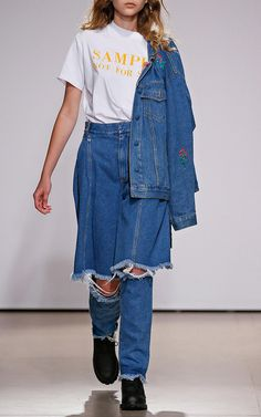 Mid Rise Demi Denim Jeans by Ksenia Schnaider | Moda Operandi