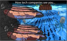 Our friends Nitrozac and Snaggy at The Joy of Tech have detected distinct ways tech corporations treat their customers.