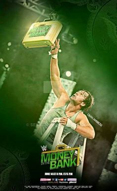 Money in the bank Dean Ambrose on the cover