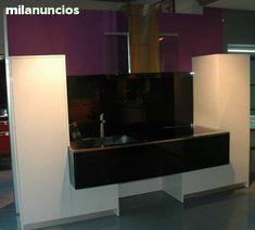 Mueble tv madera maciza cerezo con puertas, 2 cajones, hueco tv y ...