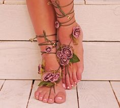 Barefoot Sandals Barefoot sandles Nude shoes Foot by AnjiTeri