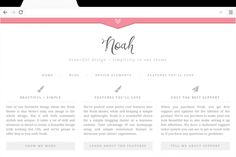 Noah is a sleek, minimalistic theme that's perfect for a feminine blogger or website owner.Beautiful design and simplicity, all rolled into one easy to use package.