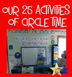 Little Stars Learning: Our 25 Activities of Circle Time. This can be a valuable time and this post shows how to effectively fit the most into this group time. Each activity has a description of how this teacher made it the most effective for her students. Perfect for students with special learning needs. Read more at: http://littlestarslearning.blogspot.com/2014/07/circle-time.html