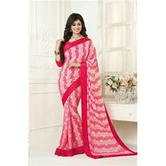 Saiveera New Arrival Ayesha Pink Latest Designer Floral Printed Daily Wear Georgette Saree/sari Saiveera Fashion Is a Best Manufacturer, Exporter,Wholesaler, As well as Best and dealer,Retailar Of Designer,Embroidery Wedding Sari,Kids Lahenga Choli,Salwar Suit,Dress Material,etc.in surat Textile Market. Also Mainly Focus On Style,Choice,Fabric. So Saiveera Fashion Also Made Designer, Printed, Cotton,Fancy,For More Query Please Call Or Whatsapp- +91-8469103344