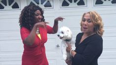 Pam Perry and Kim Brooks Freestyle Rap with Peppy Perry the Smiling Dog!