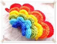 モコモコにじのエコたわしの作り方|編み物|編み物・手芸・ソーイング | アトリエ|手芸レシピ16,000件!みんなで作る手芸やハンドメイド作品、雑貨の作り方ポータル