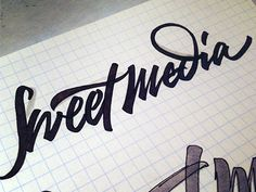 Sweet media designed by Sergey Shapiro. Connect with them on Dribbble; Typography Logo, Art Logo, Letter Logo, Hand Lettering, Script, Initials, Mood, Sweet, Shots