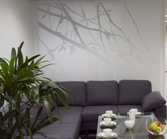 What an effective feature wall created using #Tikkurila peralescent paint