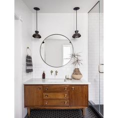 Bathroom decor for your master bathroom renovation. Learn master bathroom organization, bathroom decor suggestions, master bathroom tile ideas, master bathroom paint colors, and more. Bad Inspiration, Bathroom Inspiration, Bathroom Renos, Bathroom Furniture, Master Bathrooms, Remodel Bathroom, Bathroom Remodeling, Bathroom Cabinets, Bathroom Bin