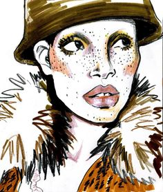 Marc Jacobs Fall '17 illustrated by Gina Schiappacasse