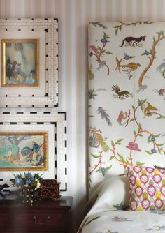Combining patterns in a room. Package Kemp (Chelsea Textiles) - pinterest - by means of Internal Canvas