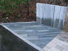 Terrassenplatte Terrassenplatten Bodenplatte Naturstein Gneis Black & White