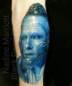 Arnold Schwarzenegger Mr. Freeze Batman tattoo