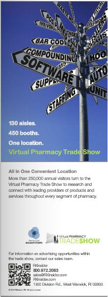 130 aisles. 450 booths. One location. Virtual Pharmacy Trade Show. All in One Convenient Location More than 250,000 annual visitors turn to the Virtual Pharmacy Trade Show to research and connect with leading providers of products and services throughout every segment of pharmacy.