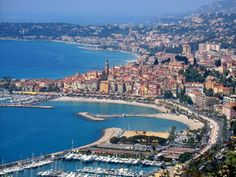 Menton, France, where my Dad used to live.  In fact, his apartment was just across from the marina!!!